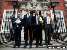 Lib Dem neotiators David Laws, Danny Alexander, Chris Huhne and Andrew Stunnell