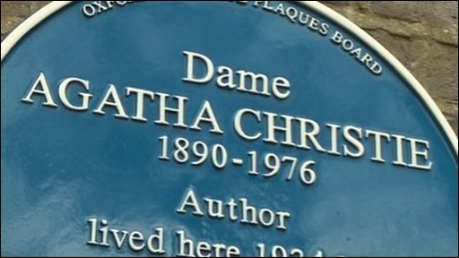 Agatha Christie's Blue Plaque