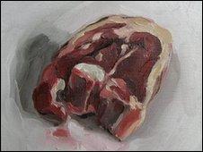 Lamb chop by Rachel Milne