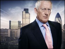 Nick Hewer in his role as Lord Sugar's special adviser