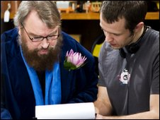 Brian Blessed with Director Marco van Belle