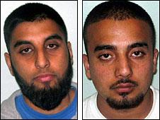 Mohammed Vakas (l) and Mohammed Adeel