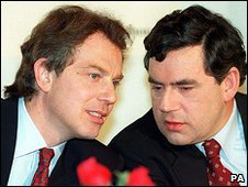 Tony Blair and Gordon Brown in 1996