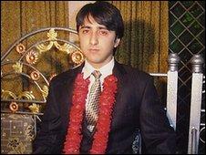 Awais Akram prior to the attack