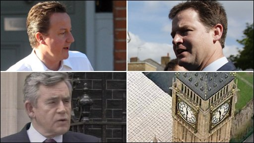 Cameron, Brown and Clegg