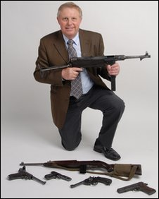 Roger Weedon with firearms