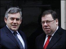 Gordon Brown and Brian Cowen