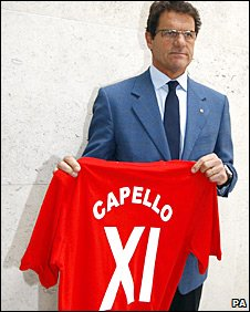 Fabio Capello at the launch of his players' index