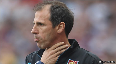 Former West Ham manager Gianfranco Zola