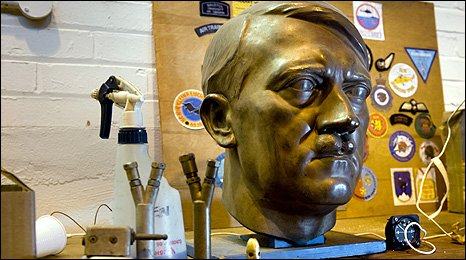 A bust of Adolf Hitler in RAF Reserve Museum