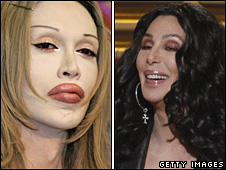 Pete Burns and Cher