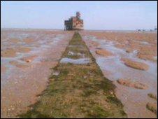 Path to Isle of Grain fort