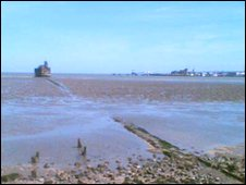 Isle of Grain fort from the shore