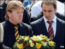 Stuart McCall at the service
