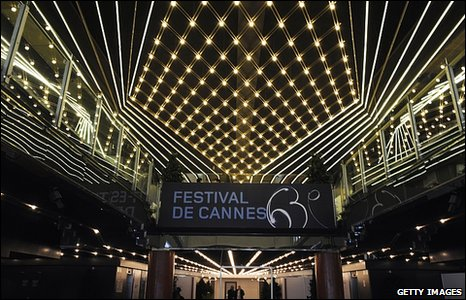 View of the interior of the Palais des Festival in Cannes