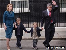 Gordon Brown and his family