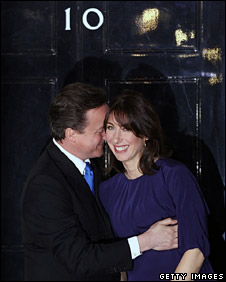 David and Samantha Cameron at No 10
