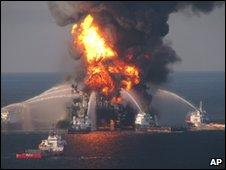 Deepwater Horizon blaze