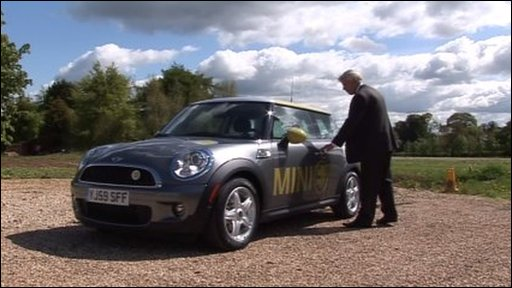 Dave Beesley with an electric mini