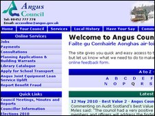 Angus Council website