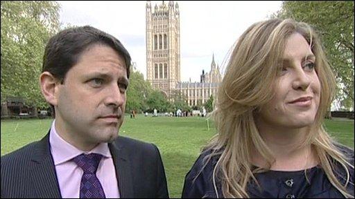 Penny Mordaunt and Duncan Hames'
