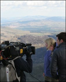 Countryfile crew on Snowdon
