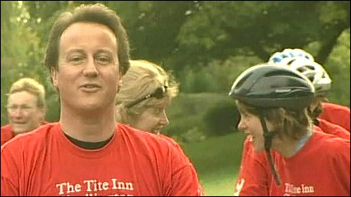 David Cameron and cyclists