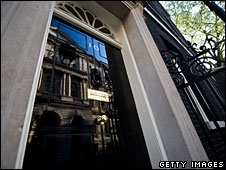 High gloss door at 10 Downing Street