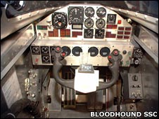 Thrust SSC cockpit