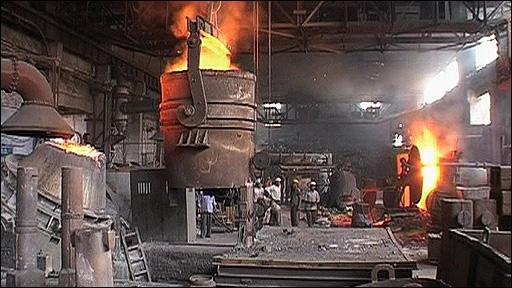 Scrap metal foundry