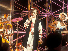Culture Club performing on Top of the Pops in 1982
