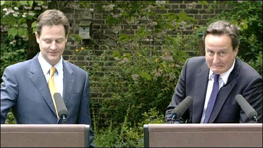 David Cameron admits calling Nick Clegg ''a joke''