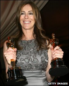Katherine Bigelow with Oscars