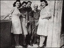 Marguerite Garden (left) with family at friends at a safe house in Paris during WWII