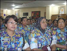 Bangladeshi women police officers