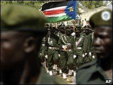 South Sudan army on parade