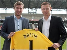 Karl Robinson and David Martin
