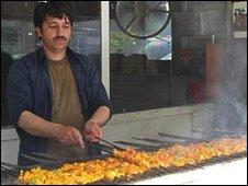 Kabul kebab stall