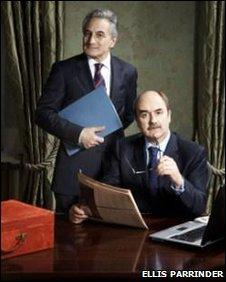 Actors Henry Goodman (l) and David Haig (r)