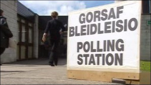 Welsh polling station