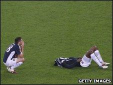 Beaten Fulham players