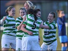 Celtic celebrate against Spartans