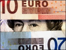 Euros and pounds
