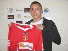 Crewe Alexandra midfielder Antoni Sarcevic