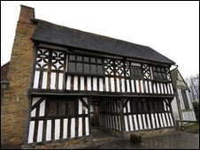The Manor House in West Bromwich - grade one listed