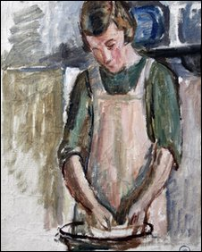 Study for 'Grace in the kitchen'