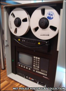 A 1980s tape machine used to record 999 calls.