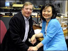 Chris Wain and Kim Phuc 
