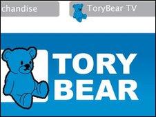 Tory Bear blog screengrab