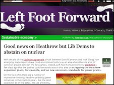Left Foot Forward blog screengrab